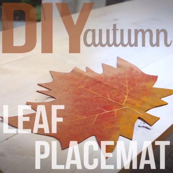 DIY Fall Leaf Placemat