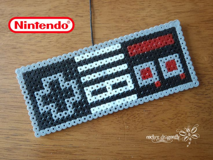 Nintendo Controller perler beads by RockerDragonfly on deviantART- BUT IM THINKING GRANNY SQUARES!