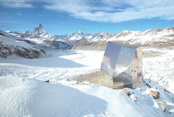 Monte Rosa: energiafüggetlen menedékház a svájci Alpokban