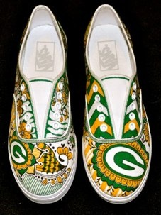 #134 Packers, Custom Tennis Shoes (Vans)