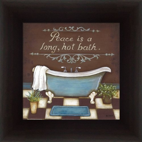 hot bath by kim lewis bathroom d cor sign in framed art