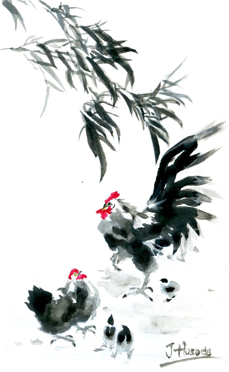 hen chinese painting - Buscar con Google