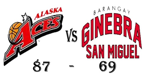 Alaska Aces win over against Brgy Ginebra San Miguel in Game 29 of the elimination round