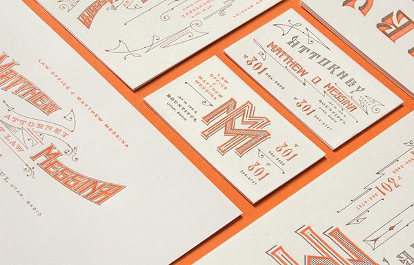 Vintage Typographic Identity for Law Office of Matthew Messina