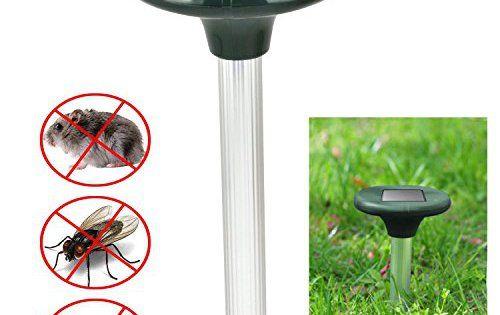 Drillpro 2pcs Répulsif Taupe Solaire Électronique à Ultrasons avec avec lampe LED solaire,pour taupe, campagnols, des serpents de fourmis:…