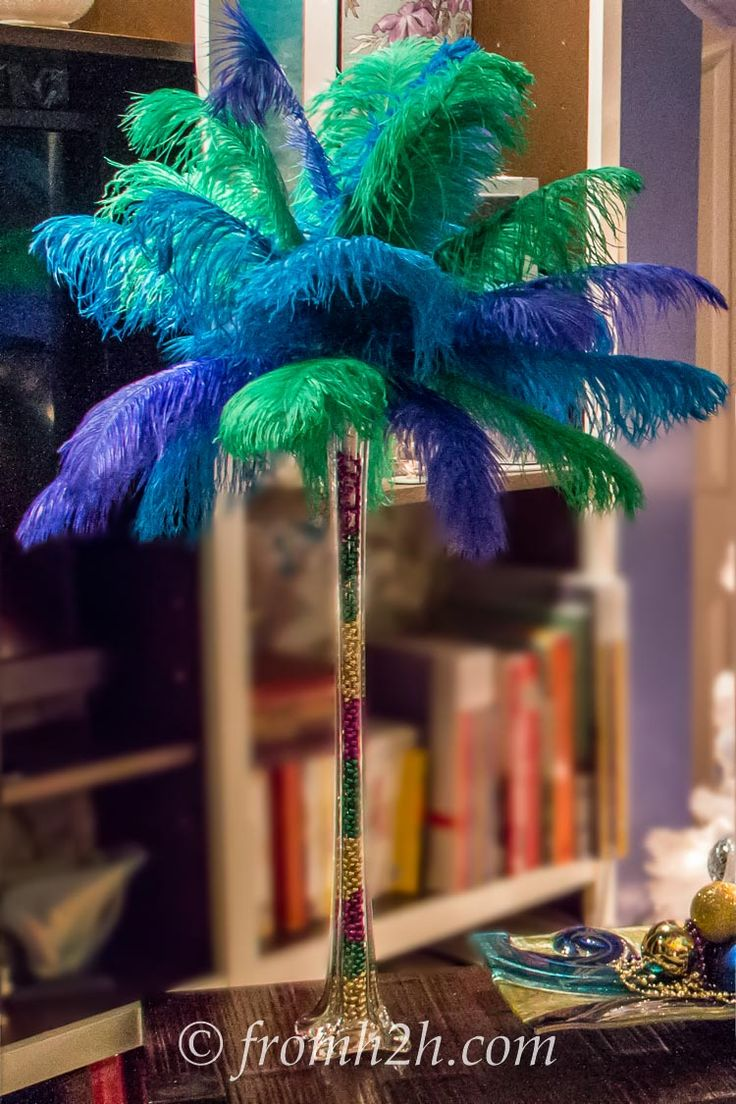 Diy how to make ostrich feather centerpieces plus