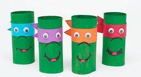 Tortues ninja avec des rouleaux de papier toilette                                                                                                                                                                                 Plus