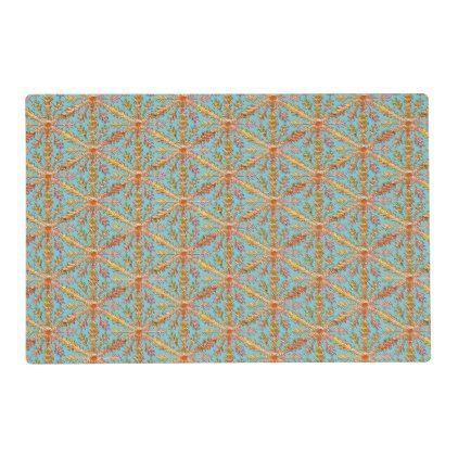 Gold Snowflakes on Robin Egg Blue Placemat - blue gifts style giftidea diy cyo