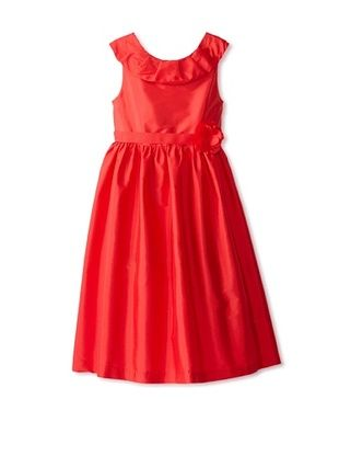 63% OFF US Angels Girl's Tank Dress with Pleated Collar (Red)