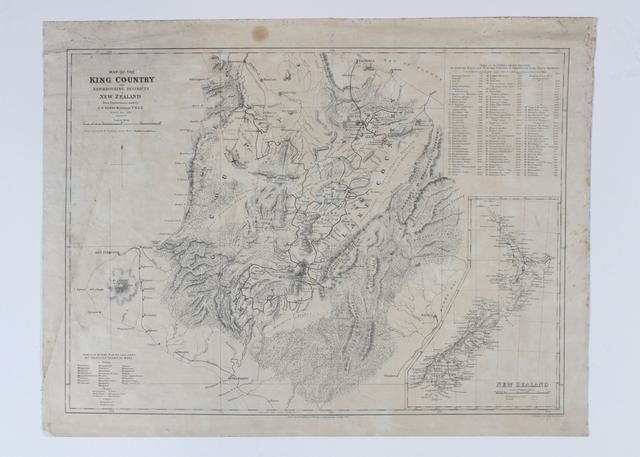 Object: Map of King Country and neighbouring Districts   Collections Online - Museum of New Zealand Te Papa Tongarewa