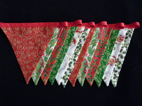 Christmas Bunting Christmas Garland Festive by GoogieandGrin