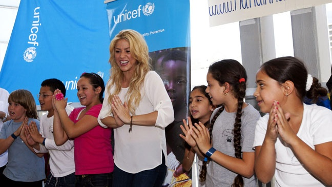 "Shakira; Pies Descalzos Foundation, ""Colombian charity for special schools for poor children"""