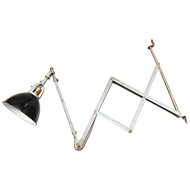 Vintage Curt Fischer Midgard Scissor Wall Lamp, 1920s 1
