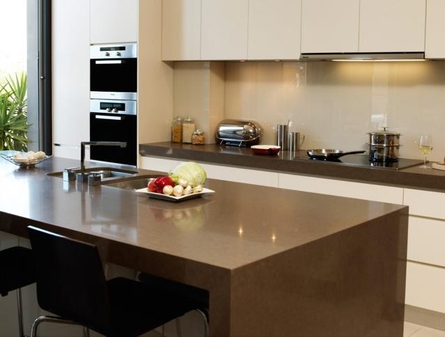 #kitchen DK DESIGN caesarstone mink