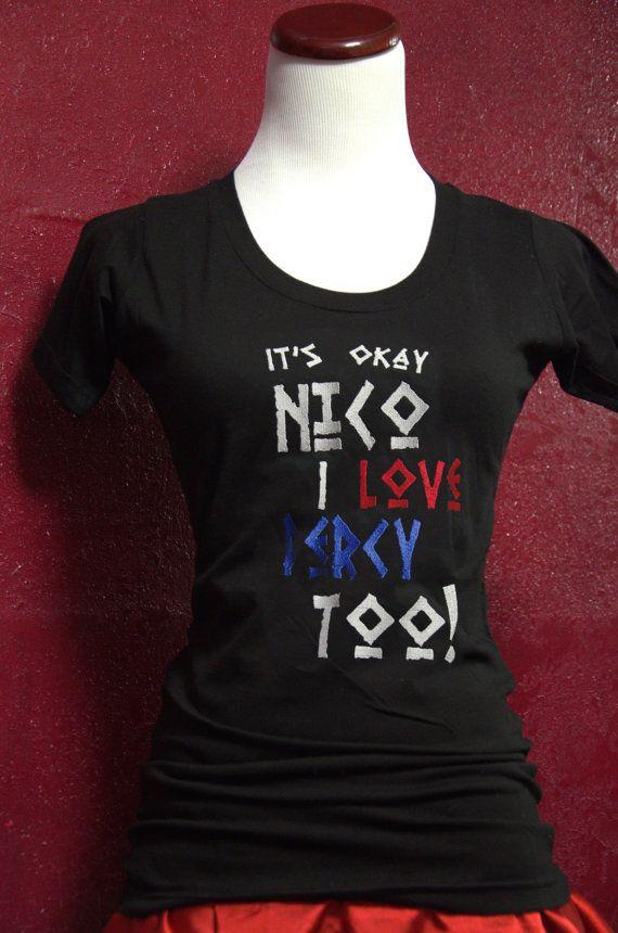 "Camp Half-Blood Shirt, Woman's Adult T-Shirt, ""I support Nico"" Percy Jackson/ Nico di Angelo inspired shirt"