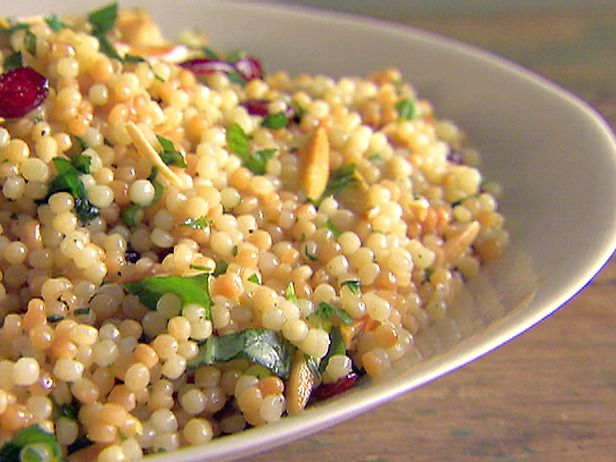 Mediterranean Salad - Couscous, dried cranberries and almonds. Great for lunch!
