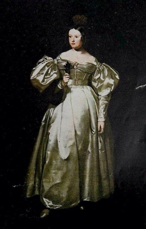 Princess Maria de Braganca by Joao Zephaniah Bell. Born in Rio de Janeiro in 1819, sister of Emperor Pedro II of Brazil. Crowned Queen Maria II of Portugal.