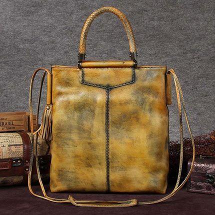 Handmade Full Grain Leather Women Satchel Bag, Shoulder Bag, Ladies Handbag A0031