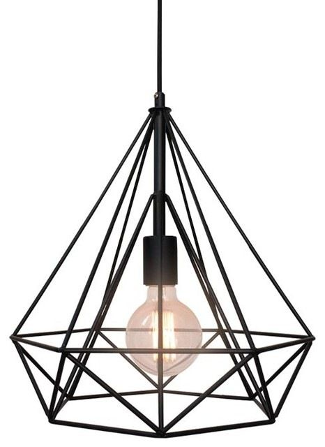 Metal Wire Diamond Chandelier industrial-pendant-lighting