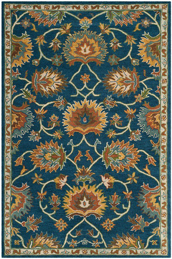 Safavieh Heritage Hg 654 Rugs Rugs Direct Navy Area Rug Area Rugs Rugs