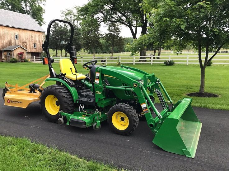 John Deere 2320 Tractor Loader Belly Mower and Brush Hog