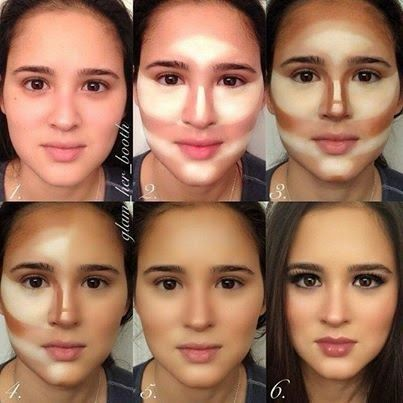 Makeup Artist ^^ | https://pinterest.com/makeupartist4ever/  Maquillaje ¿Cómo Afinar y Contornear el Rostro? by maquillajebellezamujer.blogspot.c