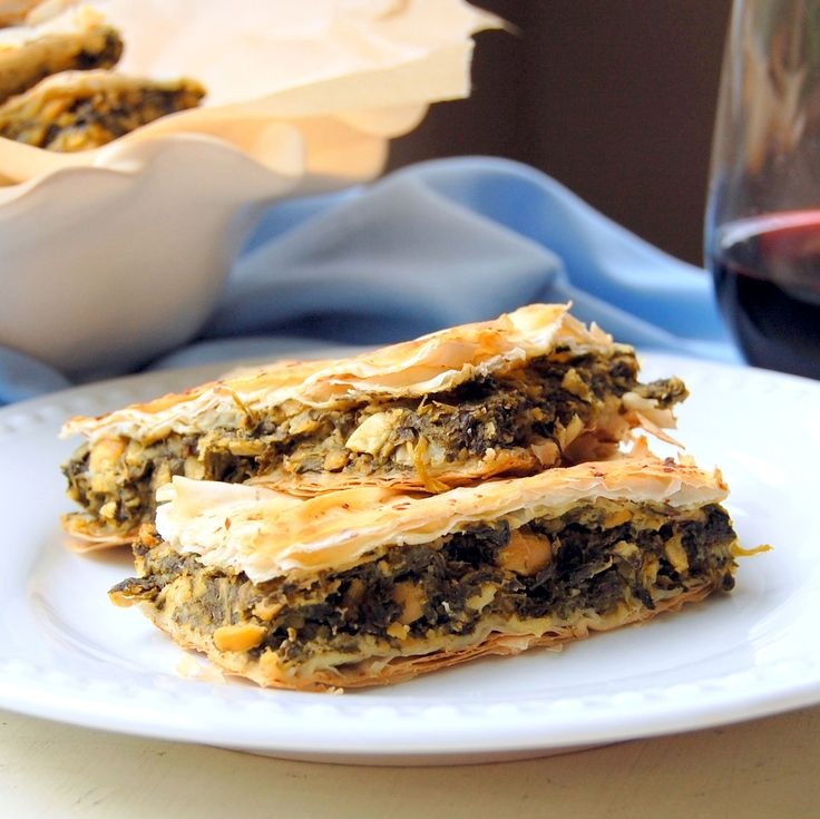 ... greek spinach pie pure thyme vegan spanakopita greek spinach pie more