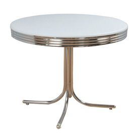 TMS Furniture Retro Chrome Round Dining Table, Lowe's online $111.75