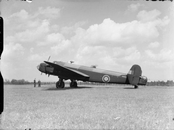 Halifax B Mark II Series 1A, HR861, on the ground prior to delivery to No. 35 Squadron RAF at Graveley, Huntingdonshire. HR861 was lost over Nuremberg, 11 August 1943.