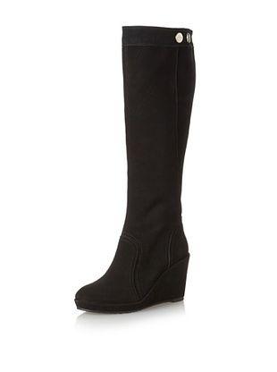 Elaine Turner Women's Charlie Wedge Boot (Black Suede)