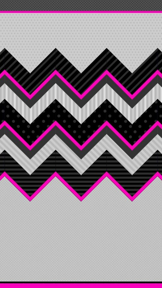 Pink, Black Grey Chevron | wallpapers / backgrounds ...