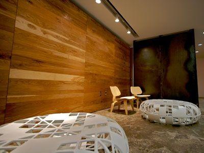 Basement wood wall