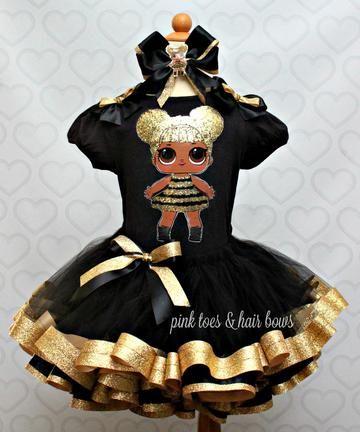 8d349c3072 Queen bee lol surprise doll tutu set-Queen bee lol surprise outfit-Queen  bee lol dress