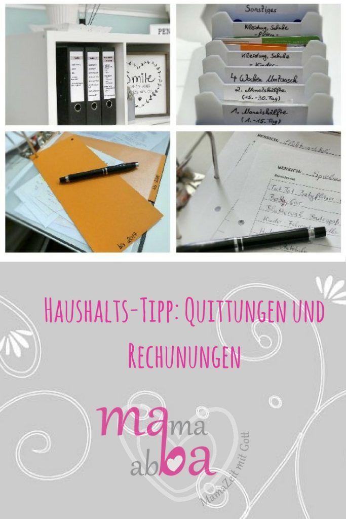 Haushalts-Tipp: Quittungen und Rechnungen sortieren – Stephanie Inka