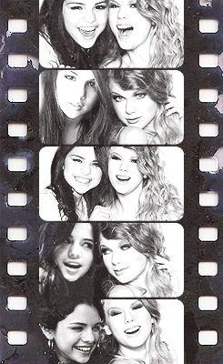 taylor swift and selena gomez, when I'm 21 I hope I will have a best friend that close to me