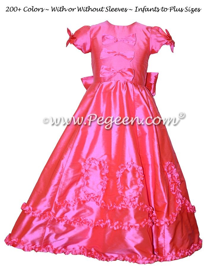 435 best hot pink flower girl dresses images on pinterest dresses from the regal collection the mary tudor cerise hot pink flower girl dresses style mightylinksfo Gallery