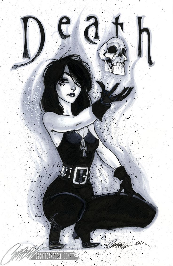 Death art by J. Scott Campbell- character by Neil Gaiman from the Sandman comic