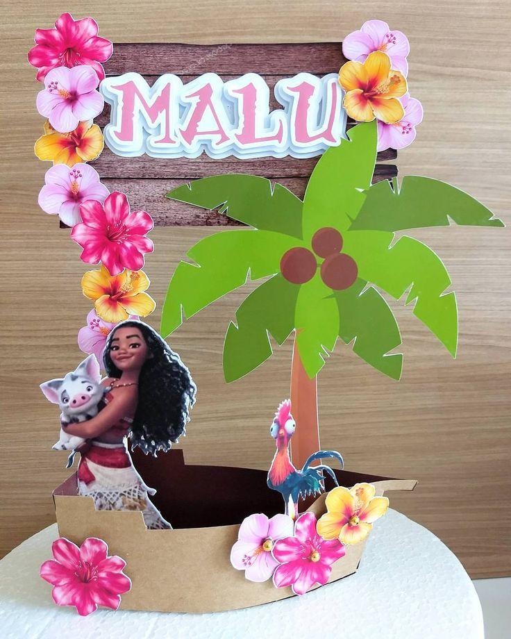 Bom dia!!! Tipo com direito a barquinho, para a princesa Malu!  . . . #tags #tagspersonalizados #personalizadosmaceio #personalizafoscomamor #scrap #scrapfesta #scrapbook #tipper #toppercake #topodebolo #topomoana #moana #festainfantil #festapersonalizada #festamoana #handmade