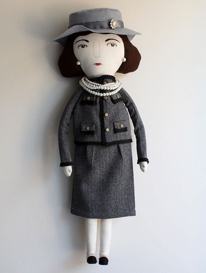 coco chanel // textile character for michi