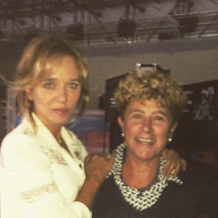 Io e Valeria Golino negli studi Rai di Torino