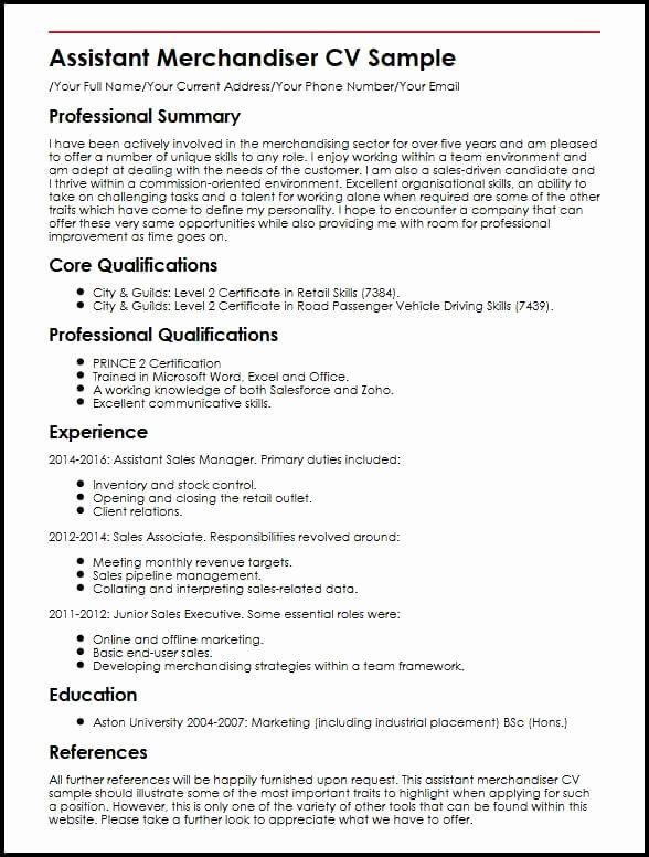 Visual Merchandiser Job Description Resume Inspirational Cool Visual Merchandiser Cv Template Gallery Mercha In 2020 Basic Resume Cover Letter For Resume Sample Resume