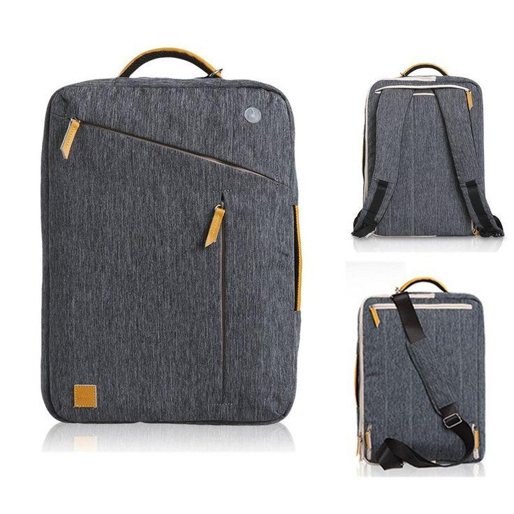15.6 Inch Convertible Laptop Messenger Bag Shoulder Bag Backpack Multi-Functional Briefcase For Macbook Laptop Ultrabook Tablet