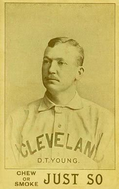 "Denton True ""Cy"" Young. Very Rare 1893 Just So Tobacco Card."