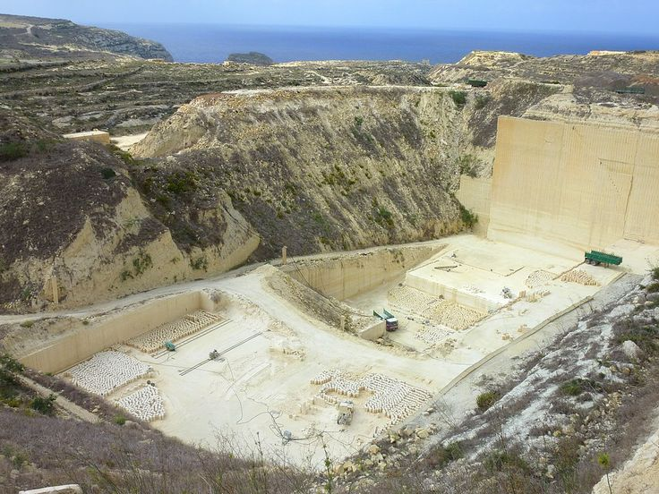 Buy this photo on Getty Images   Malta, Gozo island, the stone quarries of Malta are exploited since antiquity and still provide the stones for the construction of houses.  Published: -  ??  (Japan) - Deutsche Bank (Hong Kong)