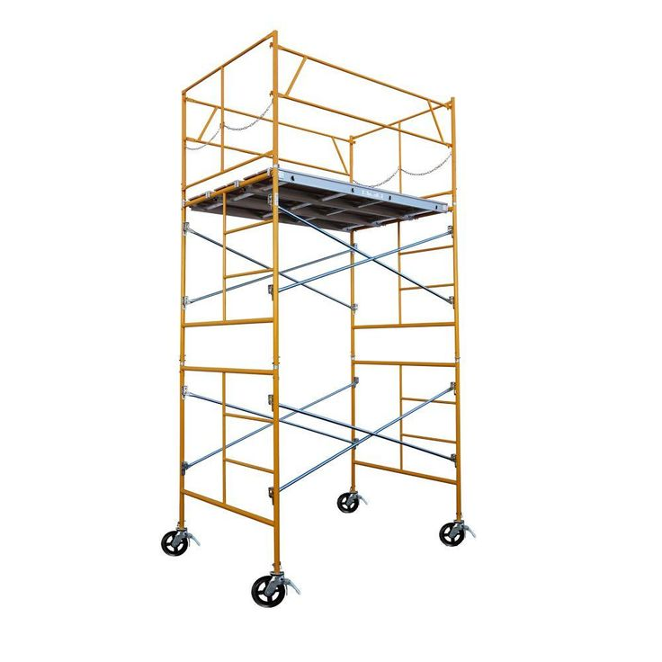 11 ft. x 7 ft. x 5 ft. Rolling Scaffold Tower 2000 lb. Load Capacity