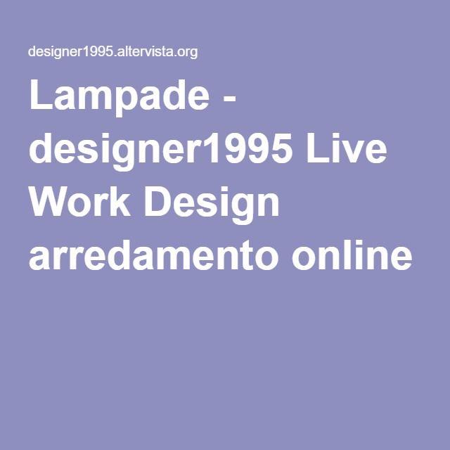 Lampade - designer1995 Live Work Design arredamento online