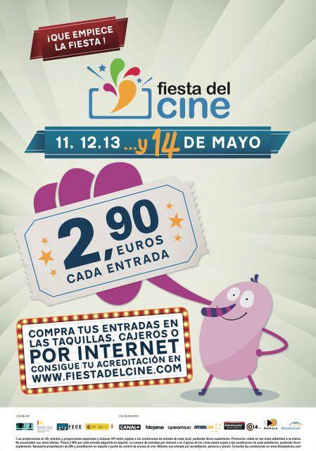TAMBIÉN EL DÍA 14!!! Ven a la fiesta del cine ¡¡¡El cine a 2,90€!!!