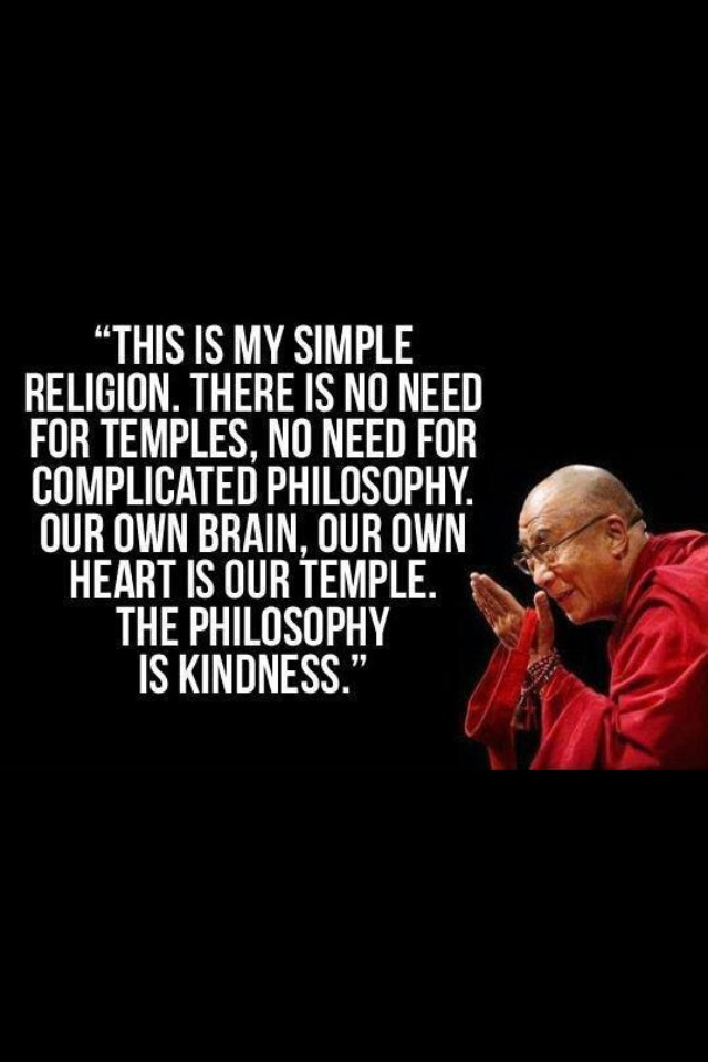 """Kindness.... this has always been """"my religion""""... I do not understand """"haters"""" and disrespectful people, especially rumor mongers that don't even know the people they hurt and keep spreading things about... I think homewreckers are disgusting... whatever happened to common decency and respect, morals, and KINDNESS"""