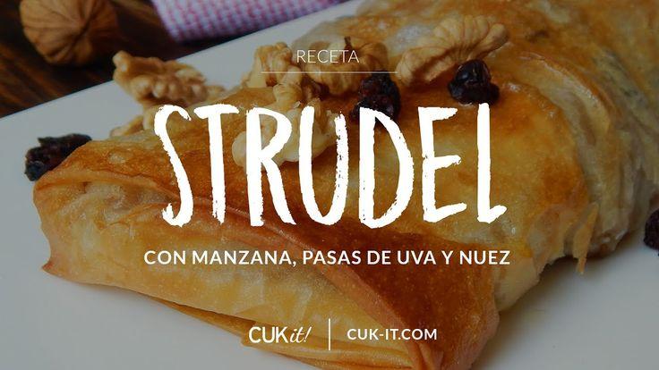 Receta de Strudel con Manzana, Pasas de Uva y Nuez - CUKit!