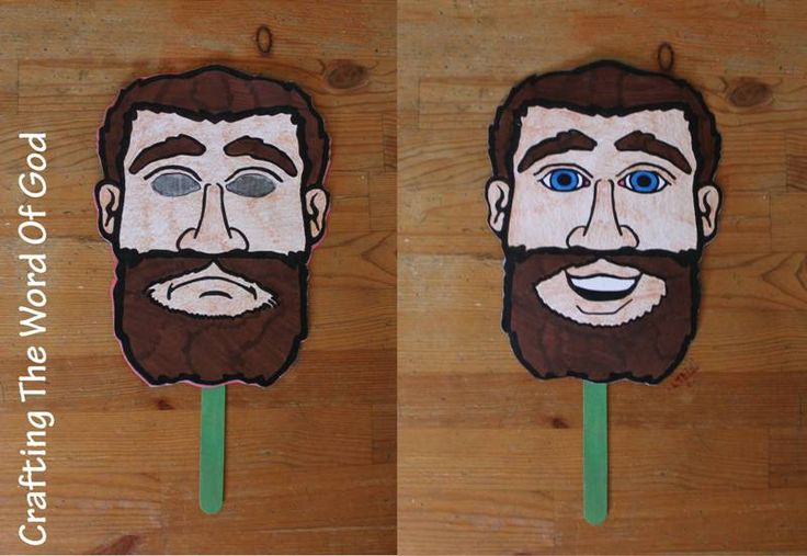 Pauls Conversion Mask. Craft to make that shows Paul when he was blind and when he could see.